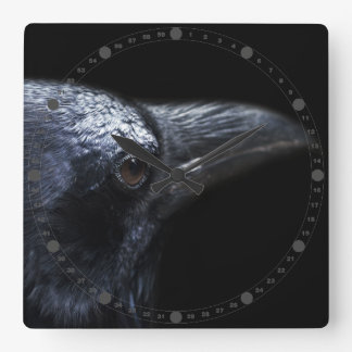 The Raven Square Wall Clock