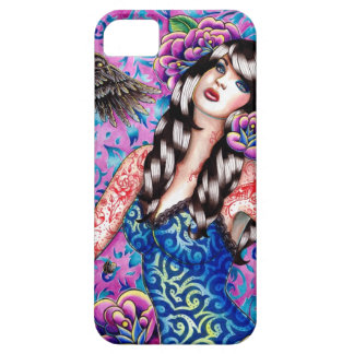 The Raven - Tattooed Pin Up Girl iPhone SE/5/5s Case