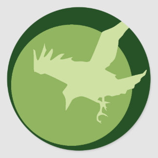 The Raven & the Moon Classic Round Sticker
