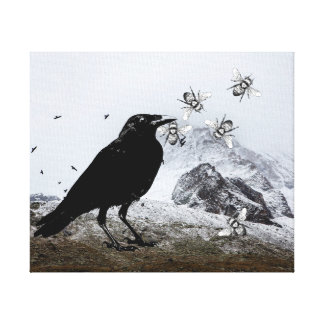 The Raven The Rocks And The Honeybees Canvas Print