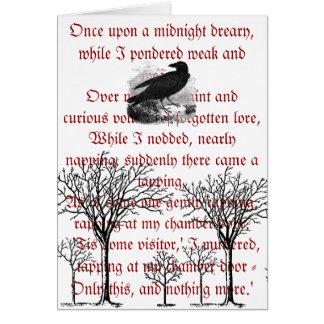 The Raven Vintage Card
