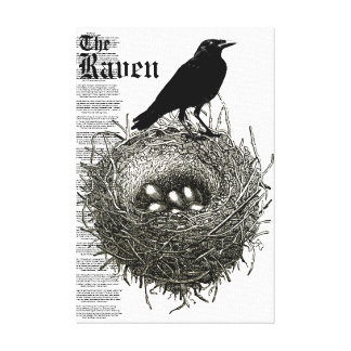 The Raven Wrapped Canvas