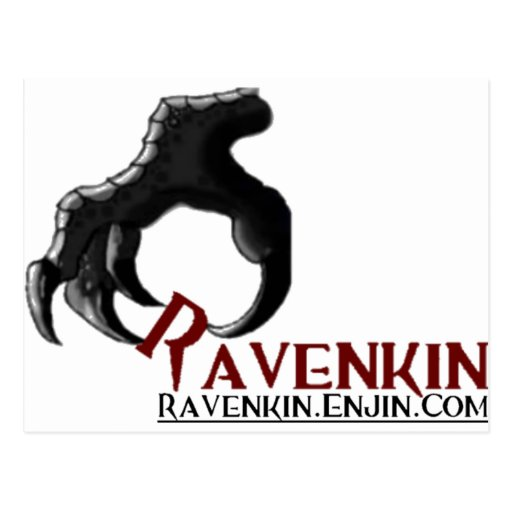 The Ravenkin Claw Collection Postcard