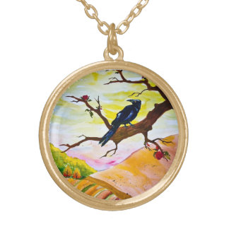 The Ravens Apples Gold Plated Necklace