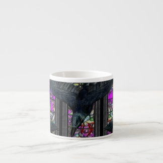 The Ravens Gothic Digital Art Espresso Cup