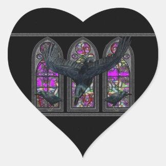 The Ravens Gothic Heart Sticker