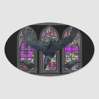 The Ravens Gothic Oval Stickers