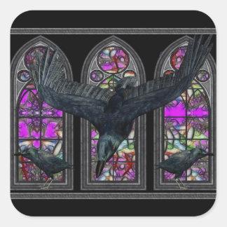 The Ravens Gothic Square Sticker