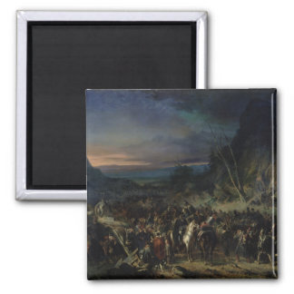 The Ravine, Campaign of 1809, 1843 2 Inch Square Magnet