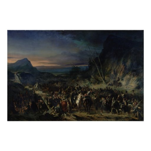 The Ravine, Campaign of 1809, 1843 Print