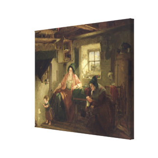 The Ray of Sunlight, 1857 Canvas Print