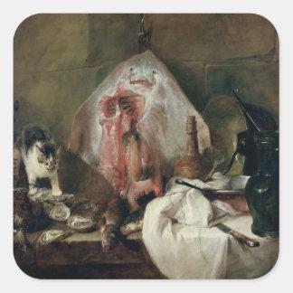 The Ray or, The Kitchen Interior, 1728 Square Sticker