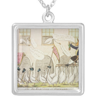 The Re-Electing of Reynard or Fox Silver Plated Necklace
