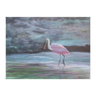 The Read Florida-Roseate Spoonbill Canvas Print