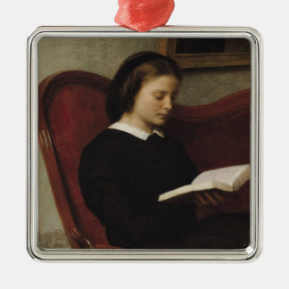 The Reader, 1861 Metal Ornament