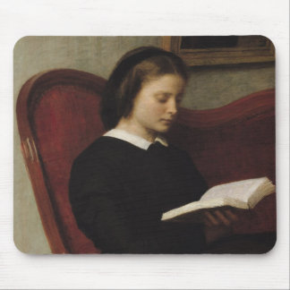 The Reader, 1861 Mouse Pad