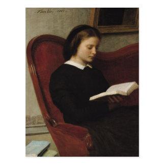 The Reader, 1861 Postcard