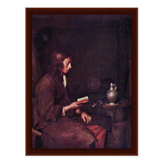The Reader By Borch D. J. Gerard Ter Postcard