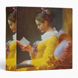 The Reader by Jean-Honore Fragonard 3 Ring Binder