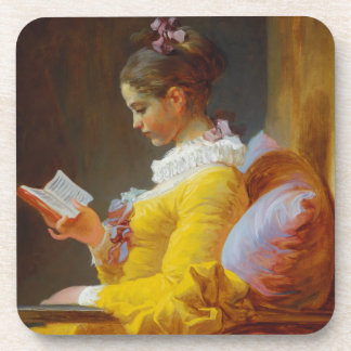 The Reader by Jean-Honore Fragonard Coaster