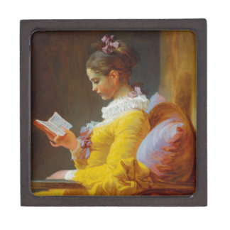 The Reader by Jean-Honore Fragonard Jewelry Box