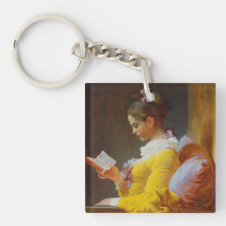 The Reader by Jean-Honore Fragonard Keychains