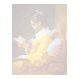 The Reader by Jean-Honore Fragonard Letterhead