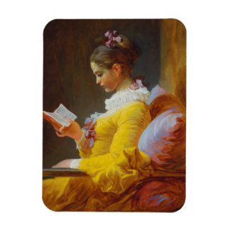 The Reader by Jean-Honore Fragonard Magnet