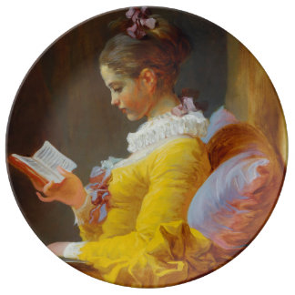 The Reader by Jean-Honore Fragonard Porcelain Plates