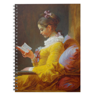 The Reader by Jean-Honore Fragonard Spiral Note Book