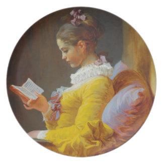 The Reader by Jean-Honore Fragonard Dinner Plates