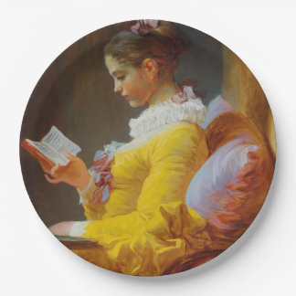 The Reader by Jean-Honore Fragonard 9 Inch Paper Plate