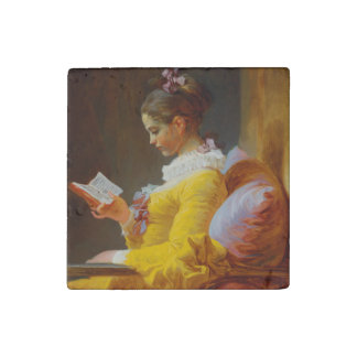 The Reader by Jean-Honore Fragonard Stone Magnet