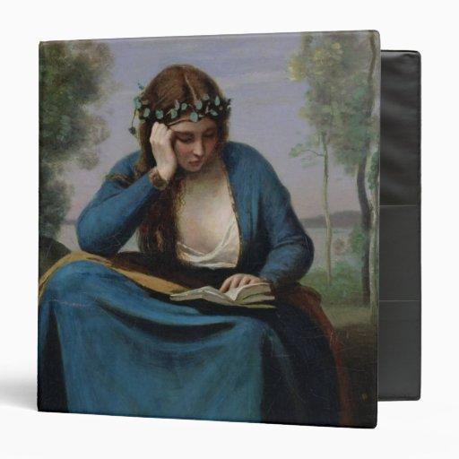 The Reader Crowned with Flowers, or Virgil's Vinyl Binder