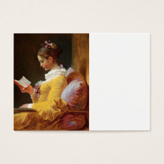 The Reader French Girl in Yellow Dress Business Card