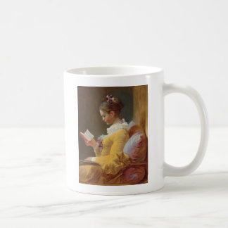 The Reader French Girl in Yellow Dress Coffee Mug