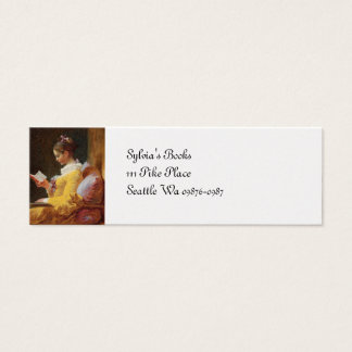 The Reader French Girl in Yellow Dress Mini Business Card