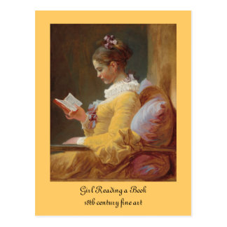 The Reader French Girl in Yellow Dress Postcard