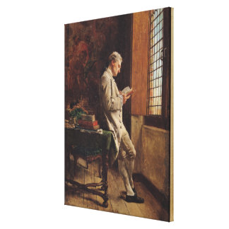 The Reader in White, 1857 Stretched Canvas Print