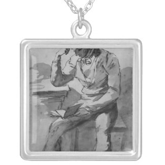 The Reader Silver Plated Necklace