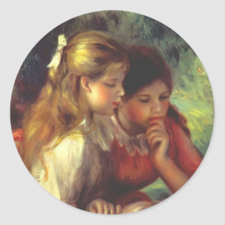 The Reading by Federico Zandomeneghi Classic Round Sticker