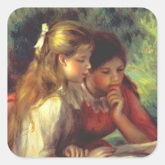 The Reading by Federico Zandomeneghi Square Sticker
