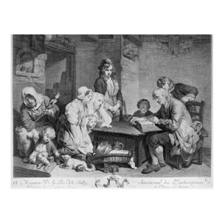 The Reading of the Bible Postcard