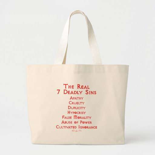 The REAL 7 Deadly Sins Bags