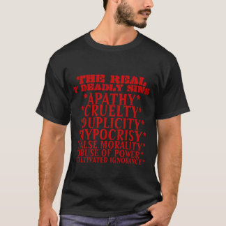 The Real 7 Deadly Sins Dark T-shirts & Shirts