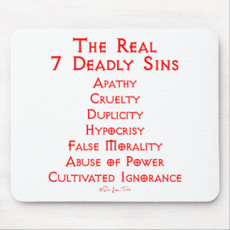 The REAL 7 Deadly Sins Mouse Pad