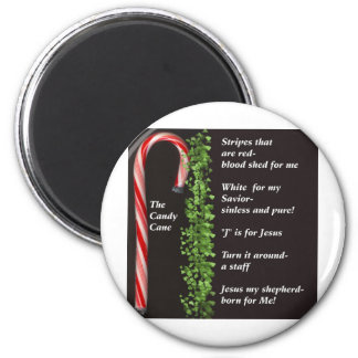 THe Real Candy Cane Meaning 2 Inch Round Magnet