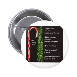 THe Real Candy Cane Meaning Pinback Buttons