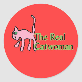 the Real cat woman stickers