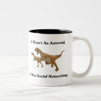 The Real Cause Of Dinosaur Extinction Two-Tone Coffee Mug